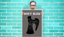 Doctor Who don't blink weeping angels Matt Smith Art - Wall Art Print Poster   - Kids Children Bedroom Geekery